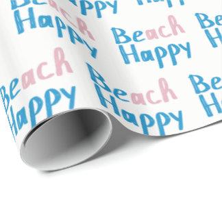 Papel De Regalo Texto feliz de la playa