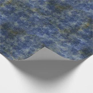 Papel De Regalo Textura rústica de los azules añiles