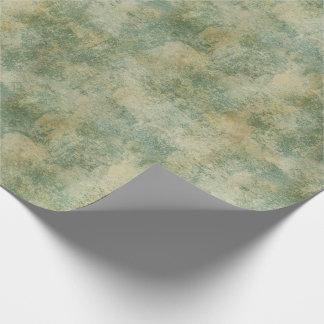 Papel De Regalo Textura rústica verde