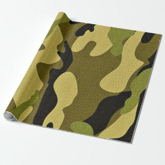 Papel De Regalo Textura verde del ejército del camuflaje