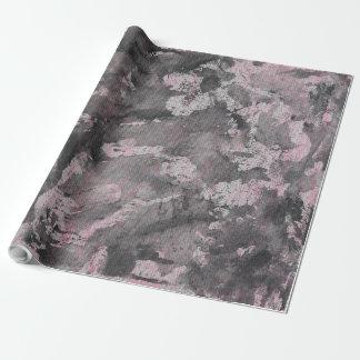 Papel De Regalo Tinta negra en el Highlighter rosado