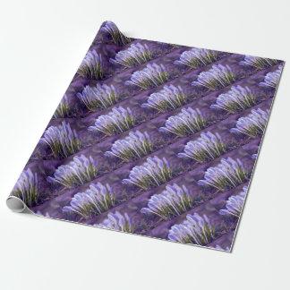 Papel De Regalo Ultra de azafrán Violetas