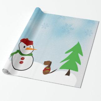 Papel De Regalo un día en la nieve
