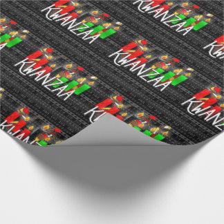 Papel De Regalo Velas de Kinara del Lit de Kwanzaa con los