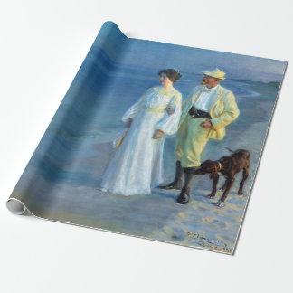 Papel De Regalo Verano de Peder Severin Krøyer que iguala la playa