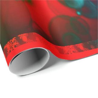 Papel De Regalo Wrappingpaper rojo y verde de las vacaciones de