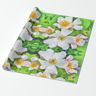 Papel De Regalo 'Wrappingpaper rosado blanco de los rosas de n,