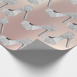 Papel De Regalo Zapatos de los tacones altos del diamante de los