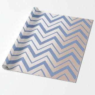Papel De Regalo Zigzag de marfil nacarado metálico del gris azul
