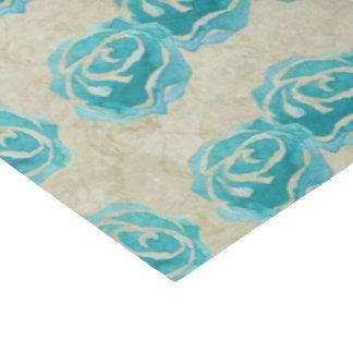 Papel De Seda 3 rosas de la acuarela del trullo en modelo del