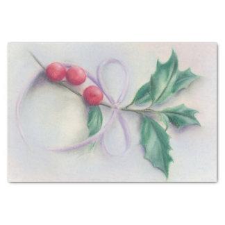 Papel De Seda Acebo con navidad del pastel del arco