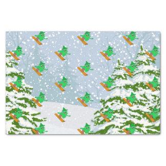 Papel De Seda árbol de navidad de la snowboard