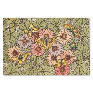 Papel De Seda Arte floral de la mariposa del mosaico del estilo
