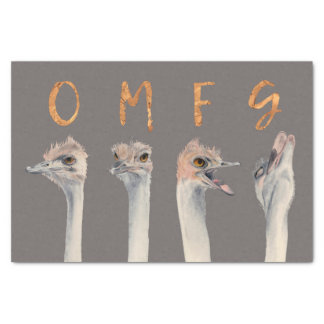 Papel De Seda Avestruces de OMFG
