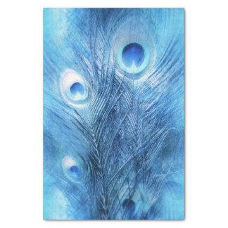 Papel De Seda Azul de pavo real