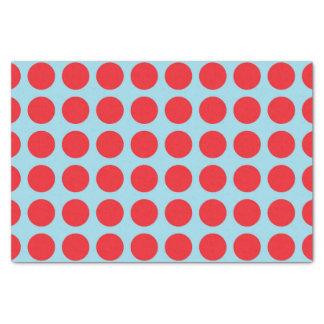Papel De Seda Azul en colores pastel de los lunares rojos