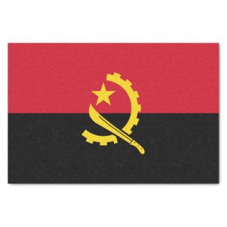 Papel De Seda Bandera angolana patriótica