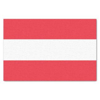 Papel De Seda Bandera austríaca patriótica
