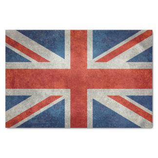 Papel De Seda Bandera BRITÁNICA de Union Jack en texturas retras