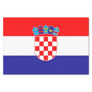 Papel De Seda Bandera croata patriótica