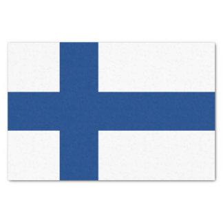 Papel De Seda Bandera de la bandera cruzada azul de Finlandia