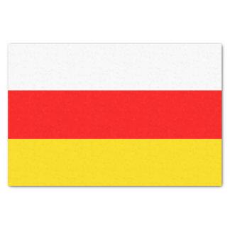Papel De Seda Bandera de Osetia del Sur