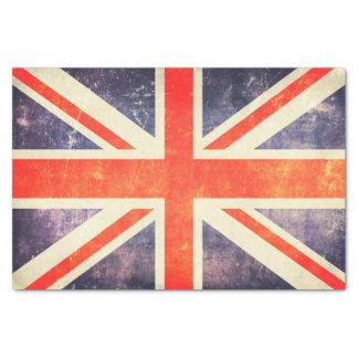 Papel De Seda Bandera de Union Jack del vintage