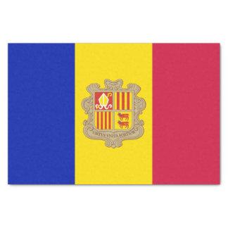 Papel De Seda Bandera patriótica de Andorra