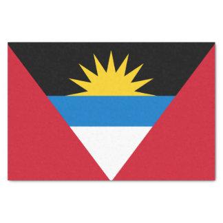 Papel De Seda Bandera patriótica de Antigua y de Barbuda