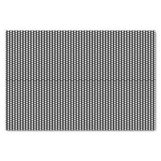 Papel De Seda Blanco negro gráfico de los lunares el  