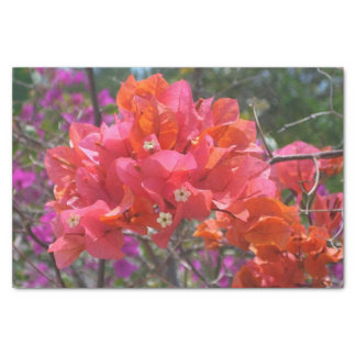 Papel De Seda Bougainvillea rosado tropical