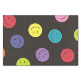 Papel De Seda Caras sonrientes - multicoloras