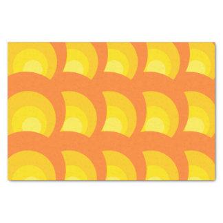 Papel De Seda Círculos anaranjados retros