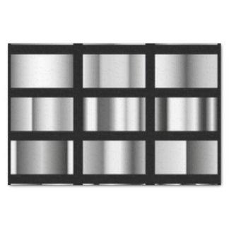 Papel De Seda Collage metálico de plata negro