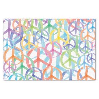 Papel De Seda Colores múltiples de los símbolos de paz