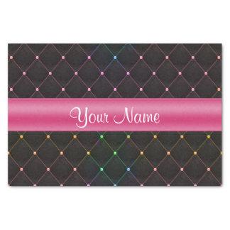Papel De Seda Colorido negro rosado acolchada moda personalizado