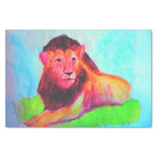 Papel De Seda Corazón del león - dibujo del arte del gato grande