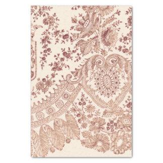 Papel De Seda Cordón floral rosado con los rosas
