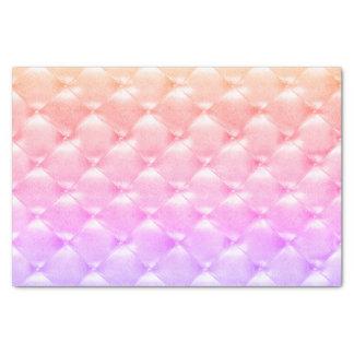 Papel De Seda Cuero copetudo púrpura de Ombre del rosa nacarado