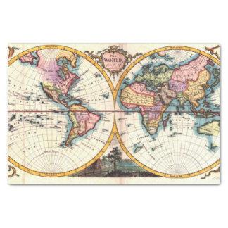 Papel De Seda Dibujo viejo del ejemplo del mapa del mundo de la
