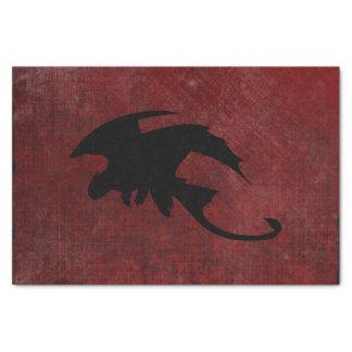 Papel De Seda Dragón medieval de la fantasía del vintage
