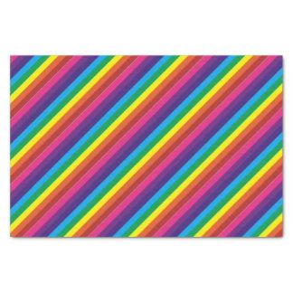 Papel De Seda El arco iris colorido intrépido raya el modelo