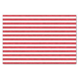 Papel De Seda El blanco rojo texturizado raya navidad bonito