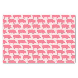 Papel De Seda El cerdo rosado siluetea el modelo