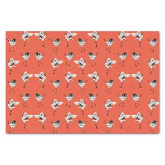 Papel De Seda El japonés de baile Cranes el colorete del tejido