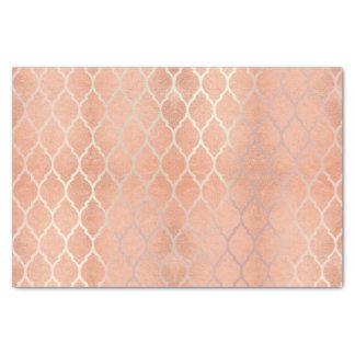 Papel De Seda El oro color de rosa coralino metálico se ruboriza