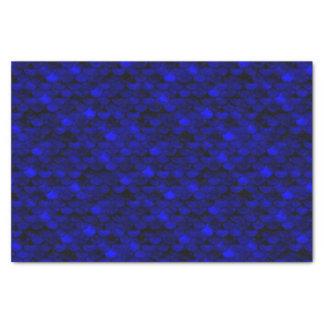 Papel De Seda Escalas azul marino de la sirena de Falln