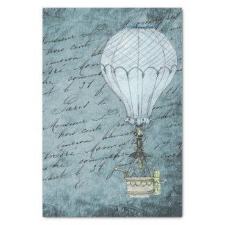 Papel De Seda Escritura azul de Steampunk del globo del aire