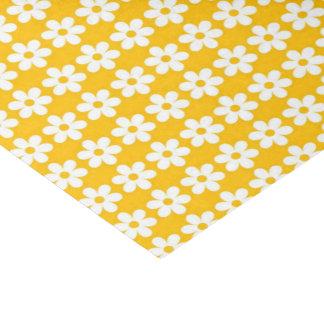 Papel De Seda Estampado de flores amarillo brillante