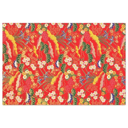 Papel De Seda Estampados de flores japoneses coloridos lindos